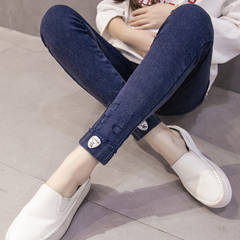 Hole Stretchy Maternity Jeans Pants For Pregnancy Women Maternity Clothings Clothes For Pregnant Women Legging Autumn Winter