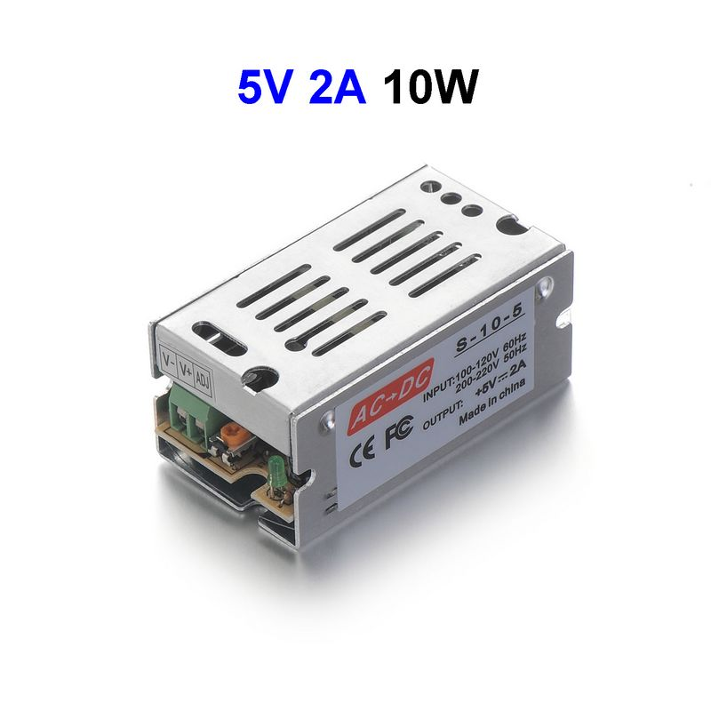 DC5V 2A 10W Switching Power Supply Adapter Driver Transformer For 5050 5730 5630 3528 LED Rigid Strip Light 5pcs dc5v 60a 300w switching power supply adapter driver transformer for 5050 5730 5630 3528 led rigid strip light