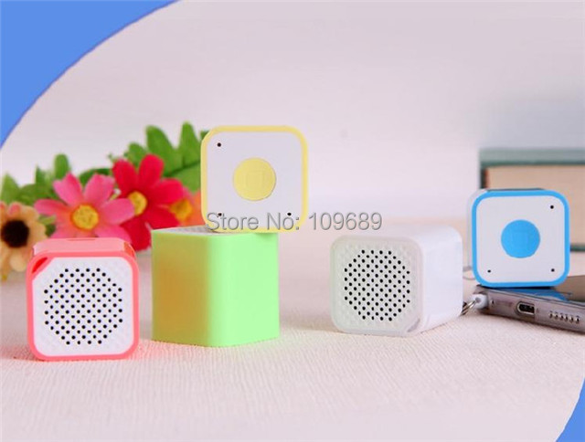 US $89 0 |10pcs/lot Mini Square Bluetooth Speaker Smart Box Smallest  Portable Outdoor Bluetooth Soundbox +Self time + Anti lost-in Portable  Speakers