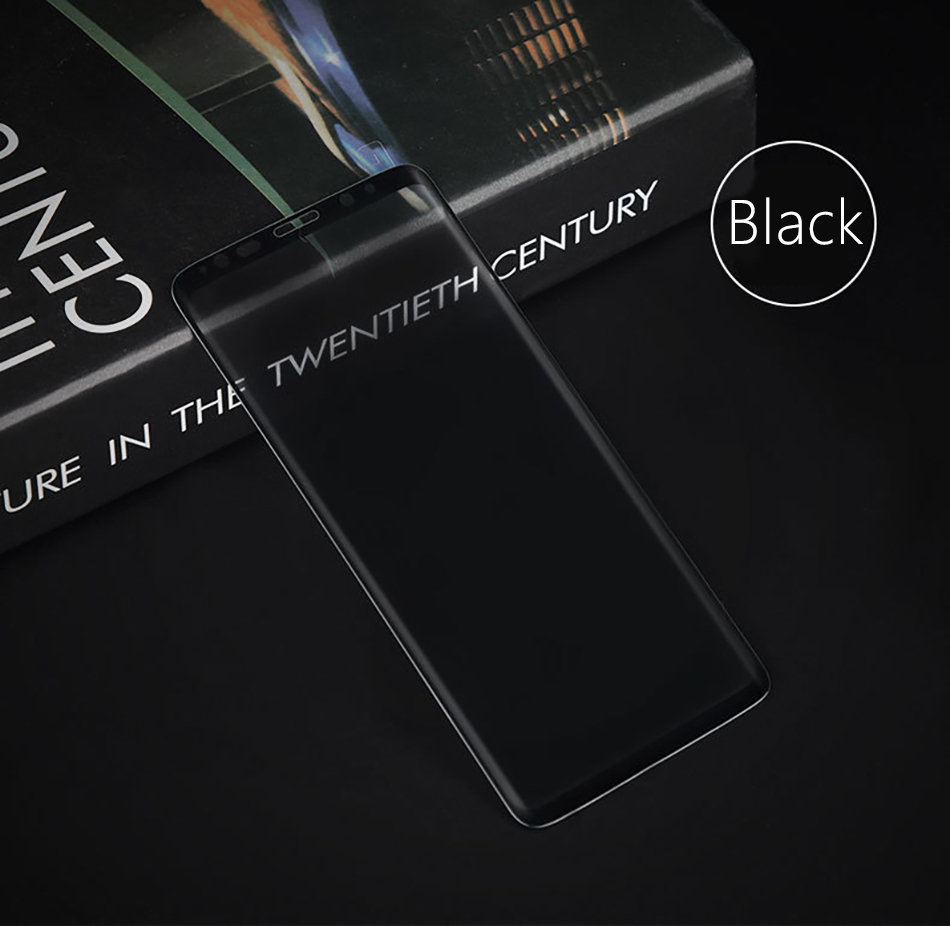 !ACCEZZ Curved Coverage Tempered Glass Film For Samsung S8 S9 Plus Note 8 Anti-fingerprint Protector Screen Front Clear Films (9)