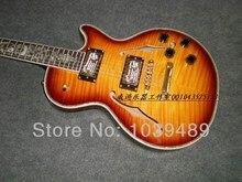 Freies verschiffen G-Custom SHOP browning gelbe farbe reben intarsien F OEM Akustikgitarre