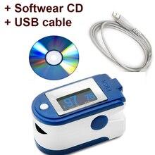 CE FDA пальцевой Пульсоксиметр USB кабель ПК программное обеспечение OLED дисплей 24 часа запись пульса частота сигнализации Монитор Oximetr De Dedo