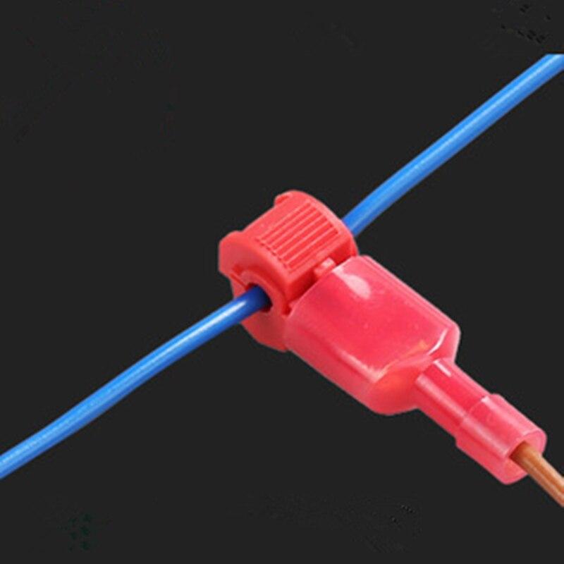 100pcs red wire cable connectors terminals crimp scotch. Black Bedroom Furniture Sets. Home Design Ideas