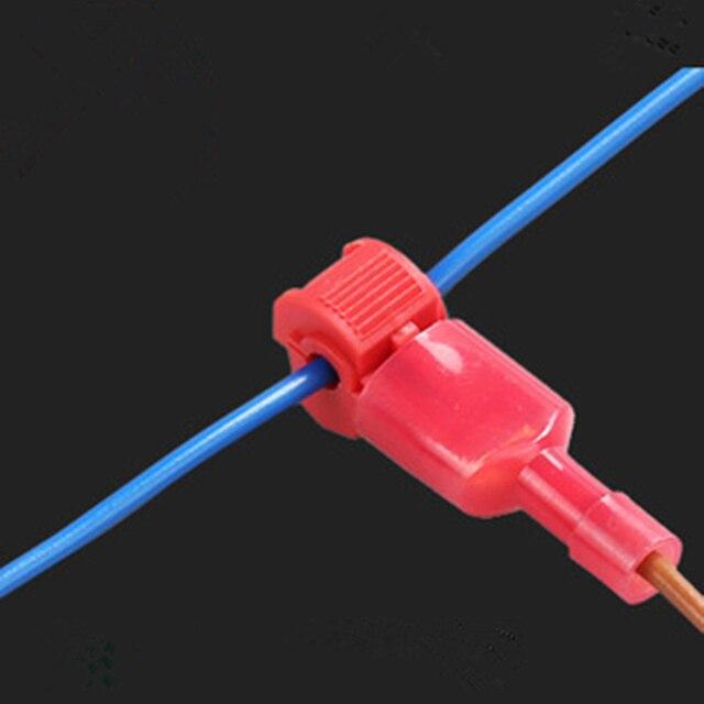 100pcs Red Wire Cable Connectors Terminals Crimp Scotch