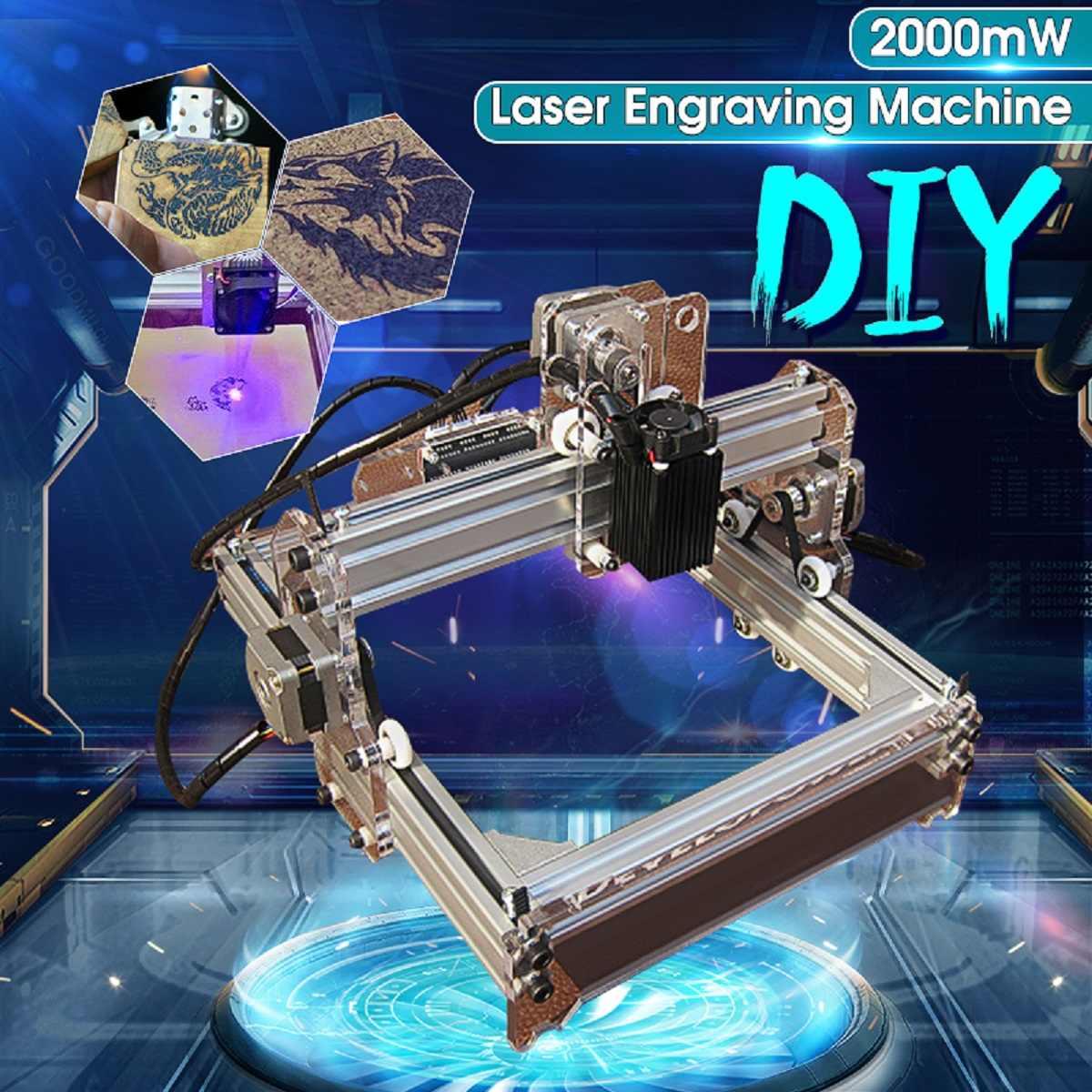 2000MW A5 17x20cm Laser Engraver Cutting Machine Desktop