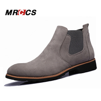 Spring Autumn Classical Suede Leather Chelsea Boots For Men Simple Fashion Ankle High Boots Men S