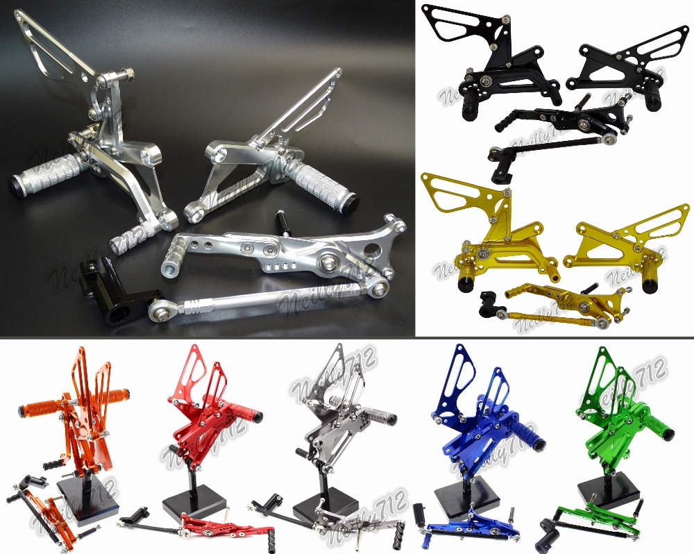 CNC Adjustable Rider Rear Sets Rearset Footrest Foot Rest Pegs For Triumph Daytona 675 R 2006