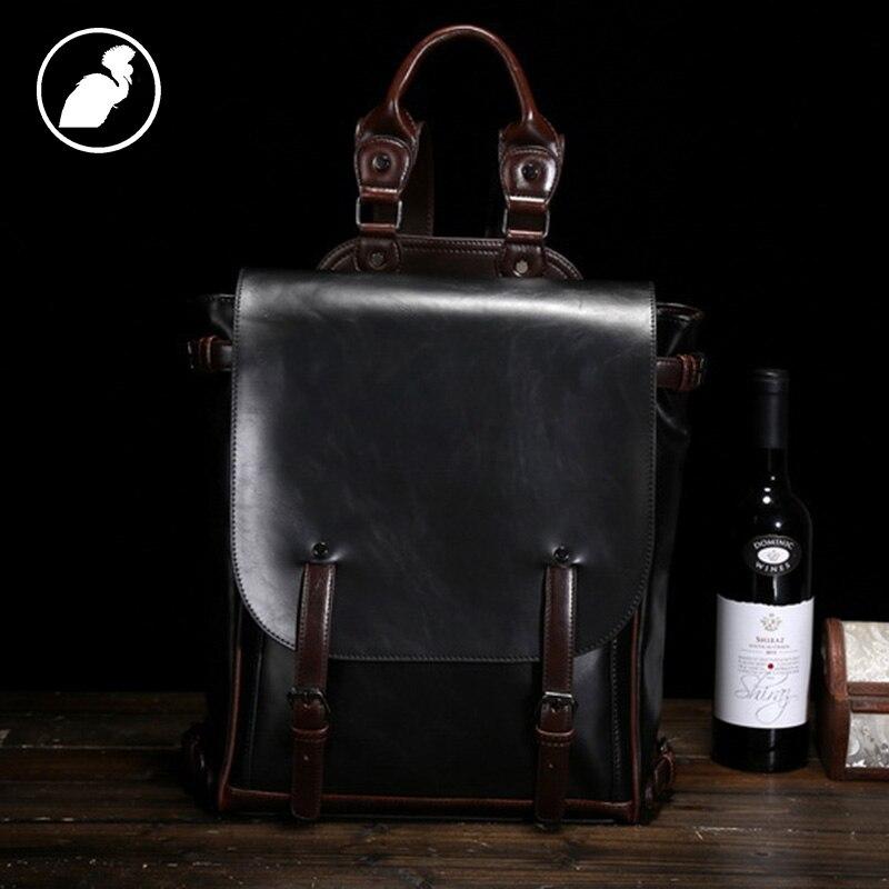 ETONWEAG New 2016 font b men b font famous brands cow leather vintage multi functional travel