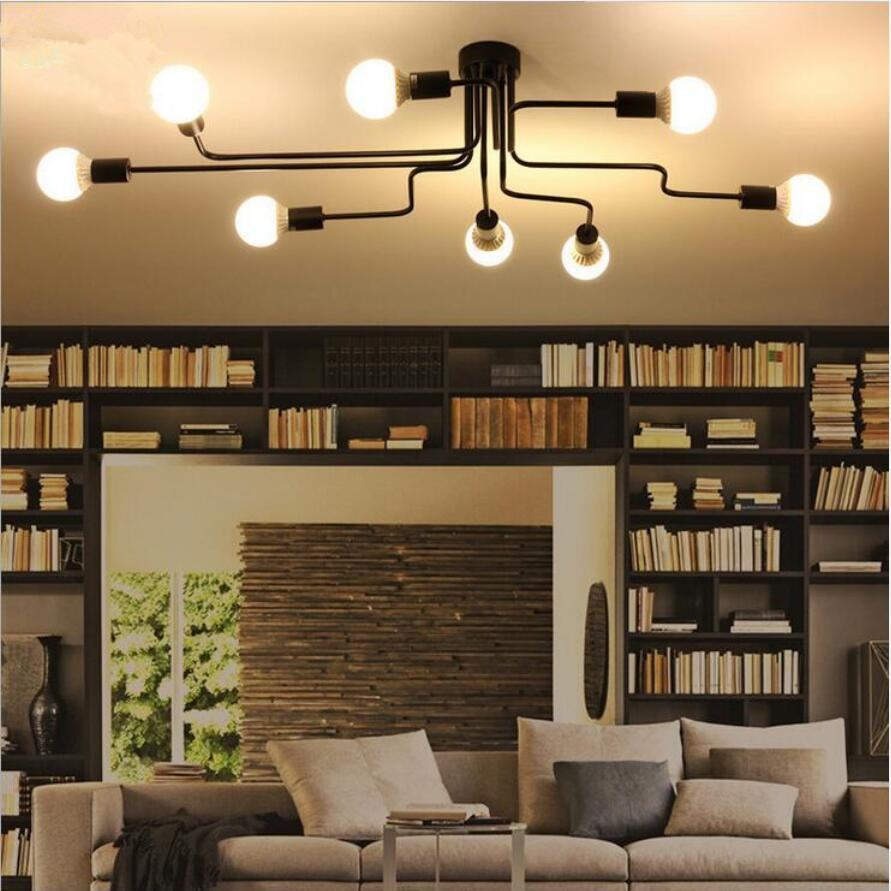 Moderne Creatieve Ijzer Led Plafond Verlichting Led Lampen Hoge Kwaliteit Woonkamer Plafond Lampen E27 Led Lustre Verlichting Plafondlamp Led Dancer Lamp Partlamp Head Aliexpress