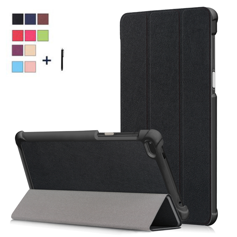 For <font><b>Lenovo</b></font> <font><b>Tab</b></font> <font><b>7</b></font> <font><b>TB</b></font>-7504F Tablet Case Cover For <font><b>Lenovo</b></font> <font><b>Tab</b></font> 4 <font><b>7</b></font> <font><b>TB</b></font>-<font><b>7504X</b></font>/F/N Smart Flip Leather Stand Capa Fundas+Stylus image