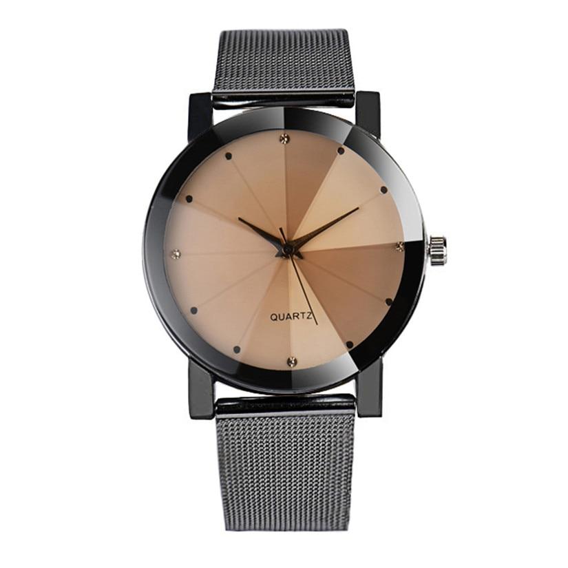 Digital Watches 2016 New Arrival Blue Ball Led Digital Wrist Watch Stainless Steel Mesh Band Quartz Watch For Men Women Gift