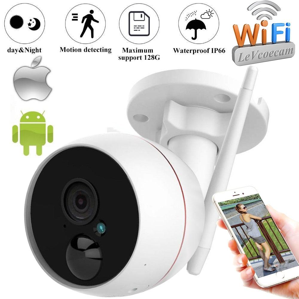 Caméra extérieure Wifi caméra IP caméra extérieure de sécurité à deux voies Audio Surveillance 1080 P HD 2.0 MPCamera Micro carte SD