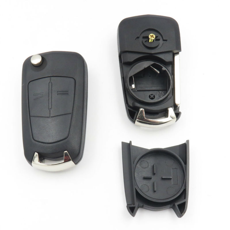 Flip Key Shell Fit For Opel Astra H Corsa D Vectra C Zafira with New Vauxhall Opel LOGO 2Button Folding Remote Key 2 Buttons