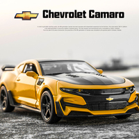 1 32 Chevrolet Camaro Alloy Diecast Car Models KIDAMI Pull Back Collection Toy Cars For Children