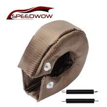 SPEEDWOW Manta Turbo de titanio T3, cubierta de turbocompresor de protección térmica, envoltura para T2, T25, T28, GT30, T35