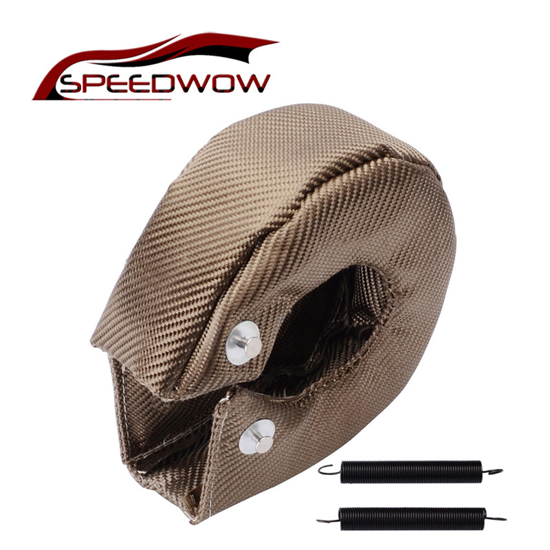 SPEEDWOW <font><b>T3</b></font> Titanium <font><b>Turbo</b></font> <font><b>Blanket</b></font> Heat Shield Turbocharger Cover <font><b>Turbo</b></font> charger Cover Wrap Fit For T2 T25 T28 GT30 T35 image