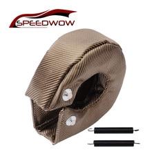 Speedwow T3 Titanium Turbo Deken Hitteschild Turbocharger Cover Turbo Cover Wrap Fit Voor T2 T25 T28 GT30 T35