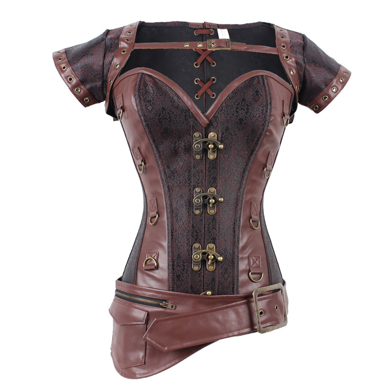 popular brown leather corsetbuy cheap brown leather