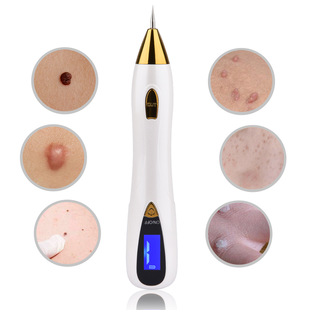Skin Care Laser Mole Tattoo Freckle Removal Pen LCD Sweep Spot Mole Removing Wart Corns Dark