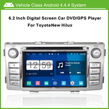 Android Coches reproductor de DVD PARA TOYOTA Hilux Nuevo 2012 GPS de Navegación Multi-táctil capacitiva, 1024*600 de alta resolución.