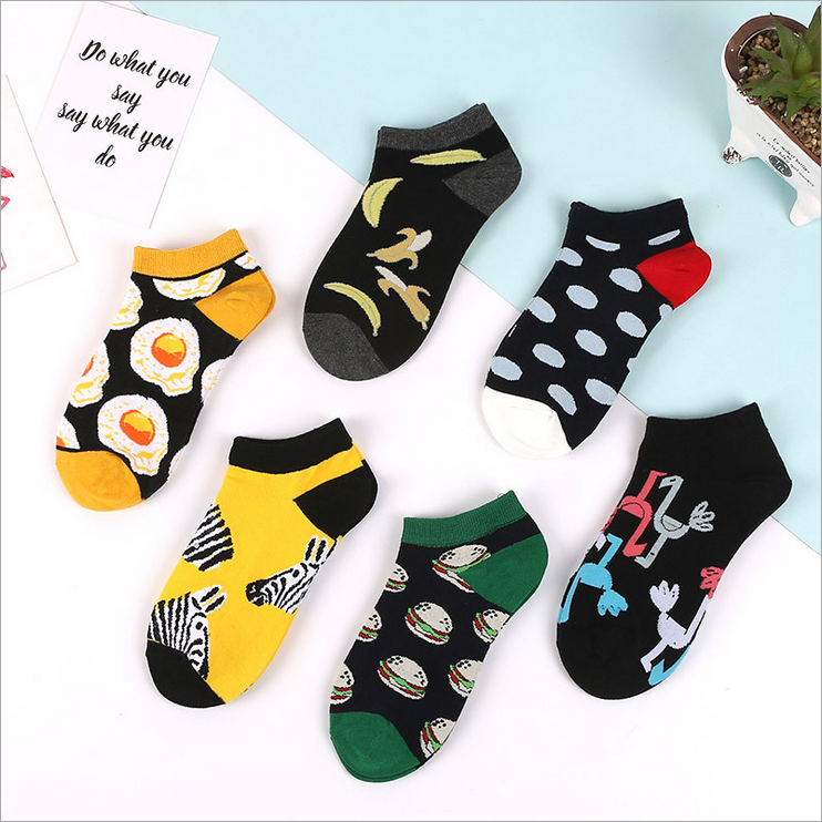 1Pair Unisex Comfortable Fruit Cotton Socks Woman Slippers Short Ankle Socks In 5 Colour High Quality New Fashion 2019