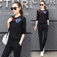 New Women S Wear Long Sleeved Pullover Hoodies Pants Casual Suit Fleece Outfit Pocket 2 Pcs