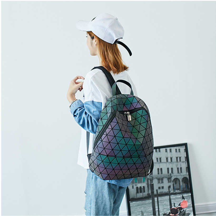 YUTUO gorąca sprzedaż Laser Refrac składany moda plecak na ramię torba na ramię Student School torby Hologram kobiet plecak Bao