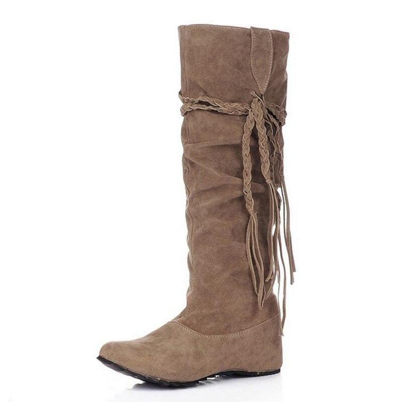 KemeKiss женская обувь на плоской подошве пикантные сапоги зимние теплые сапоги Качественная и модная обувь; теплая обувь; botas feminina P8396 размер 34-43 - Цвет: Цвет: желтый