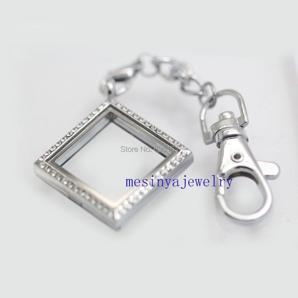 steel stainless daddy lockets plate keychain pin locket includes silver window floating large