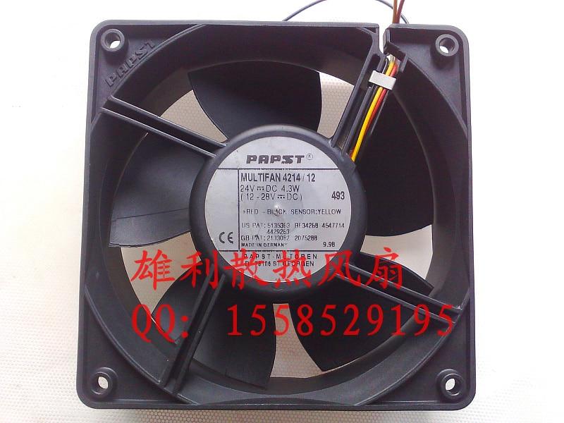Free delivery.4214 / 12 12038 12CM 24V 4.3W inverter fan