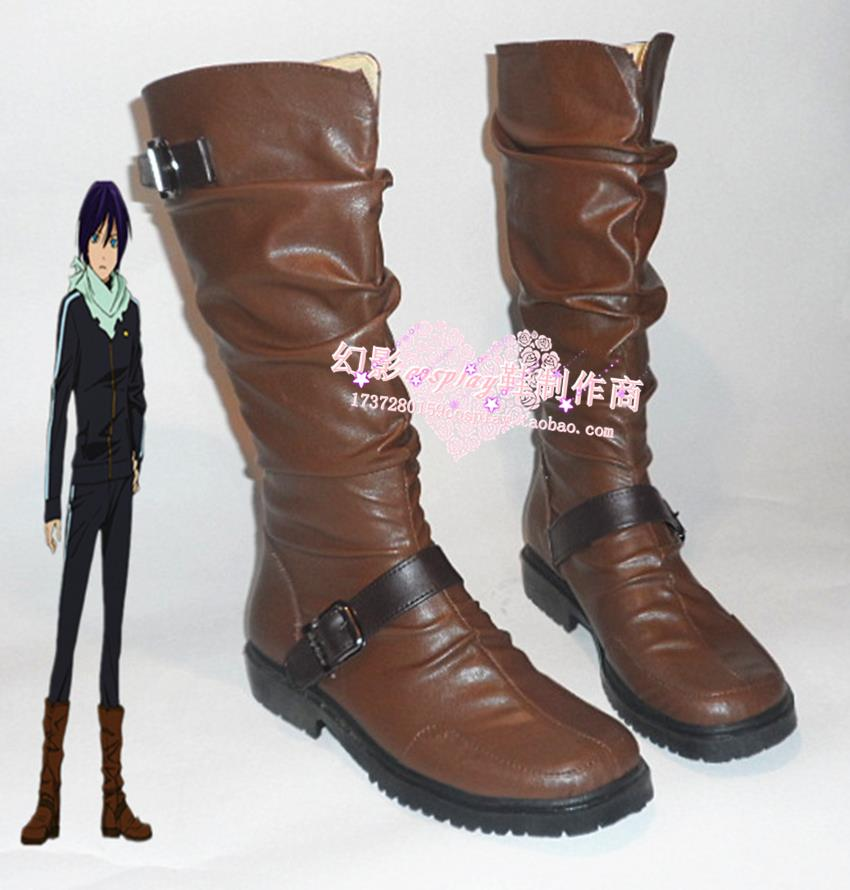 New Noragami Cosplay Shoes yato Anime Party Boots custom-made