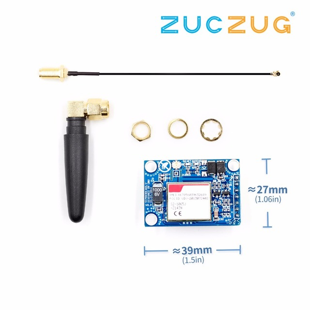 SIM800L V2.0 5V Wireless GSM GPRS MODULE Quad-Band W/ Antenna Cable Cap