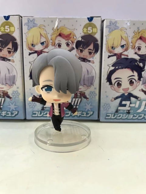Yuri On Ice Victor Phichit Kenjiro PVC Action Figure 5cm Model Toy Anime Yuri On Ice Figurine 5pcs/set