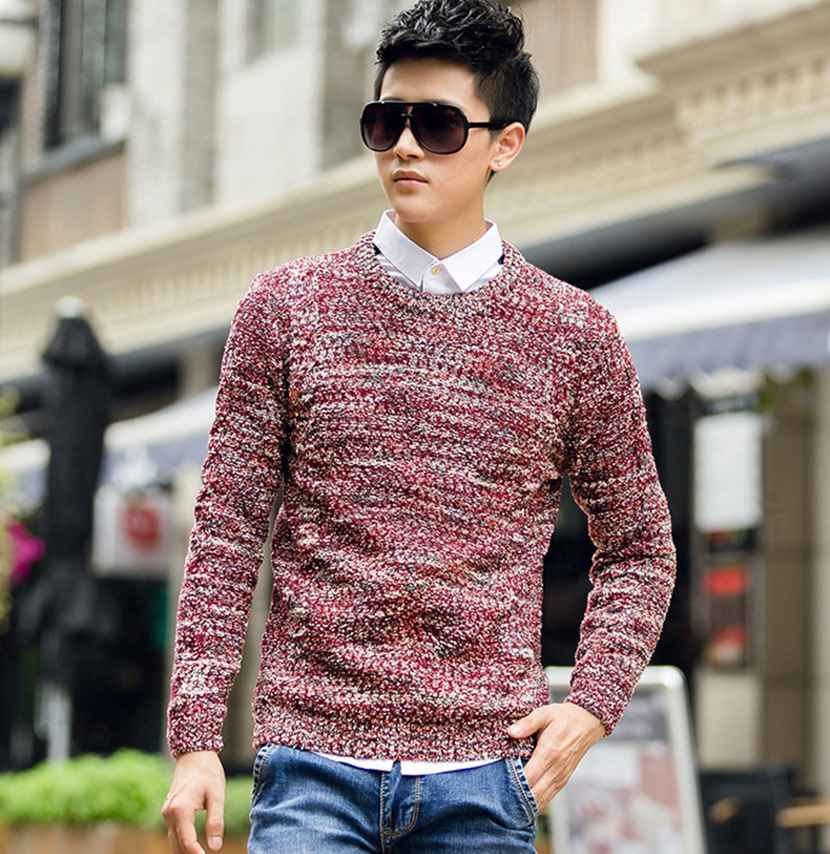 Rrive Mens Long Sleeve Knitted Casual Thermal Tops Pullover Wind Turtleneck Sweater