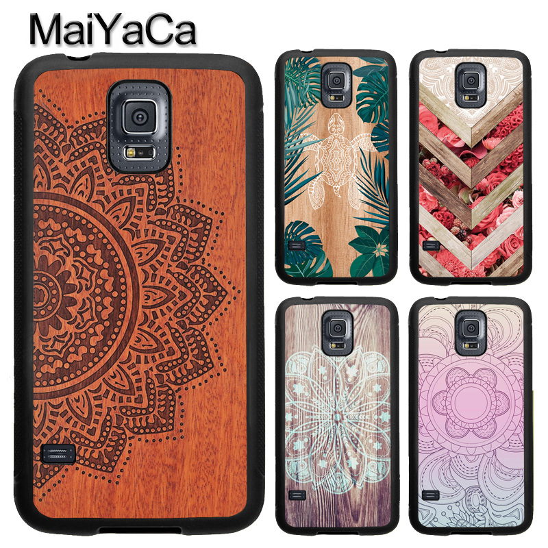 MaiYaCa Mandala <font><b>Wood</b></font> Floral TPU Phone <font><b>Case</b></font> For <font><b>Samsung</b></font> <font><b>Galaxy</b></font> A50 A70 A10 A20 A30 <font><b>A40</b></font> Note 8 9 10 S8 S9 S10 Plus S10e S6 S7 image