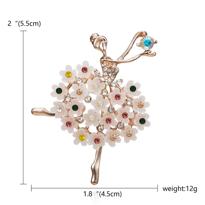 Di danza delle ragazze Lago Dei Cigni Vendita Diretta Della Fabbrica di Balletto Dancing Girl Shinning di Cristallo di Vetro Spille per la Donna in disegni assortiti