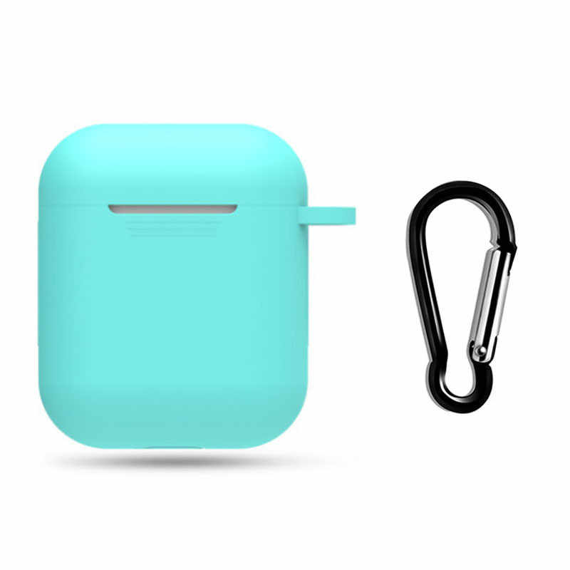 SIFREE Applicable For Airpods Case Accessories  Bluetooth Headphones Case Bag Set Drop-proof Cover with Anti-lost Hook
