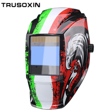 Rechangeable battery 4 arc sensor solar auto darkening/shading grinding/polish welding helmet/welder goggles/mask/cap