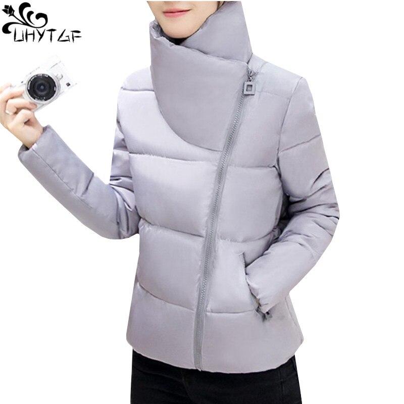 UHYTGF Winter Woman Cotton Coats 2018 Korean Plus Size Short Down Cotton Warm Coat Girl Fashion Elegant Student Jacket Women 401