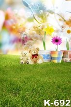 Children Photographic Backgrounds 150x200cm Baby Photography Vinyl Backdrops Green Grass Flowers Dream Child font b Photo