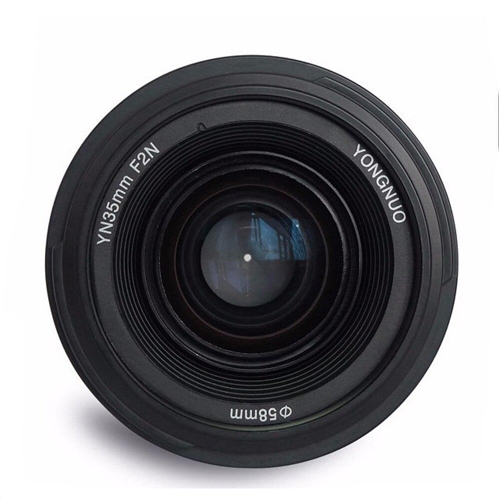Объектив Yongnuo 35 мм YN35mm F2, широкоугольный объектив с большой диафрагмой, объектив с фиксированным автофокусом для Nikon F, крепление для камер ...