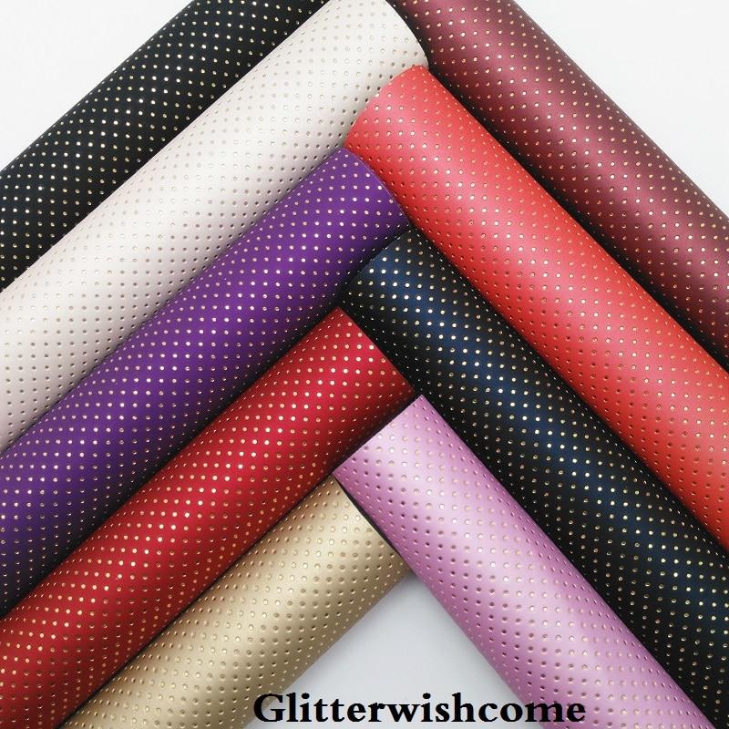 Glitterwishcome 21X29 см A4 размеры синтетическая кожа, рельефные точки кожа ткань винил для Луки, GM063A