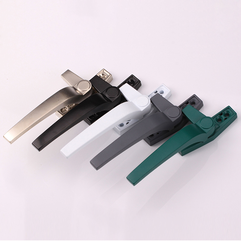 Multi colors  Window Handles left/Right Hand Zinc Alloy  Sliding Casement Window Door Handles accessories