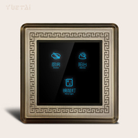 Home Automation Wall Switch Crystal Glass Panel Touch Switch