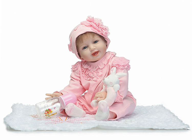 55cm Silicone Reborn Babies Dolls Toy For Girls Brinquedos Kids Birthday Gift Present Newborn Girl Babies Princess Dolls 55cm silicone reborn baby dolls toy fot girls kids birthday gift present newborn girl babies princess dolls collectable doll
