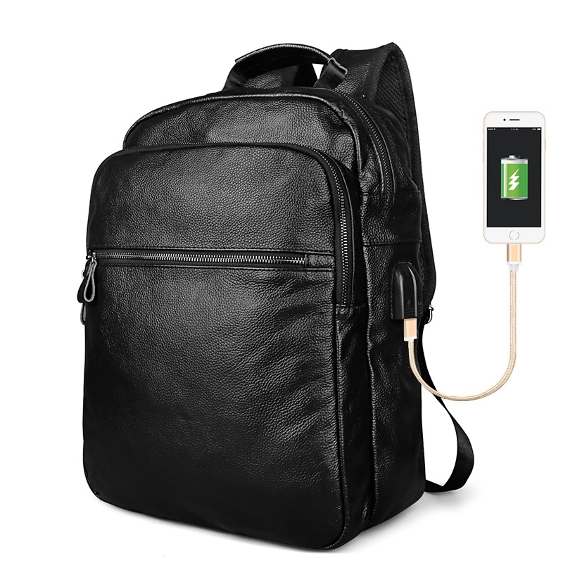 Yaodeniso Fashion Men's Leather Backpack High Quality Genuine Leather School Bags for Teenagers Large Travel Laptop Backpacks kaka brand new unisex fashion school backpack for teenagers large capacity travel bags girls boys high quality laptop bags
