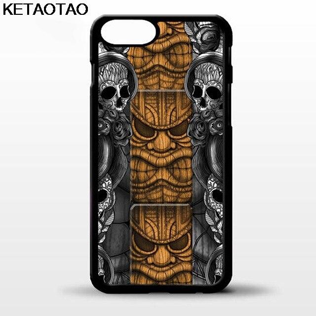 KETAOTAO Tiki statue face head maori skull Phone Cases for iPhone 5C 5S 6S 7 8 Plus X for Samsung Case Soft TPU Rubber Silicone