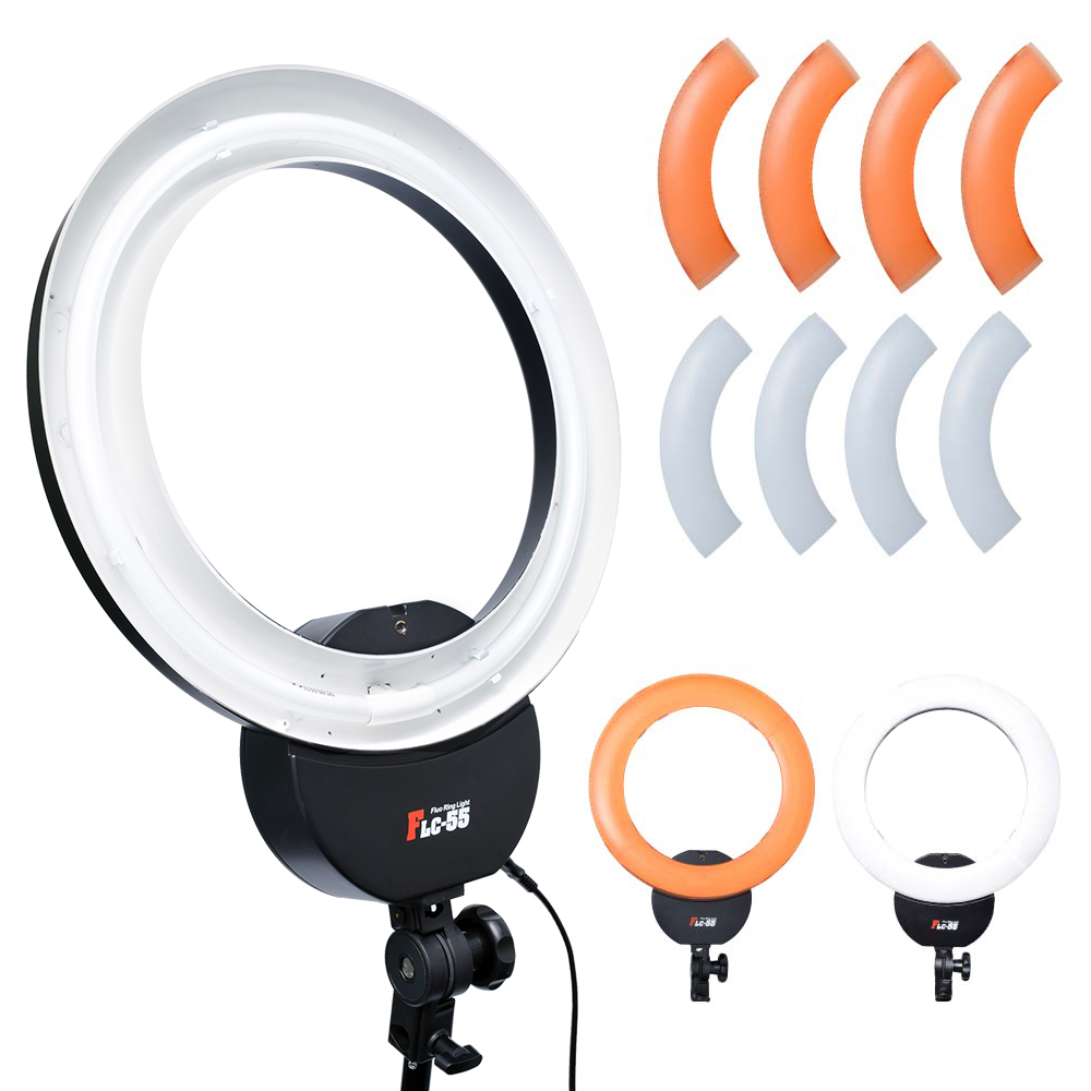 Falconeyes FLC-55 55W 16''42cm 5600K Ring Light Ring Lamp with Orange Filter for Portrait Make Up Video Photo Selfie цена