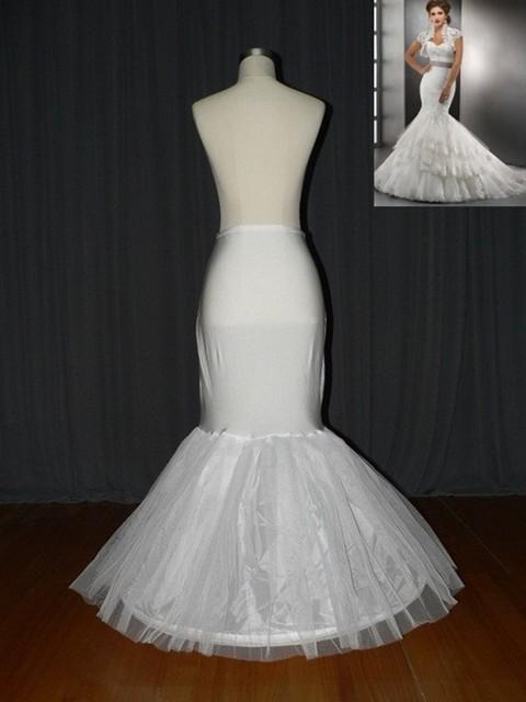 Envío gratis Mermaid blanco enagua de la crinolina enagua enagua nupcial para sirena del vestido de boda como accesorios de la boda