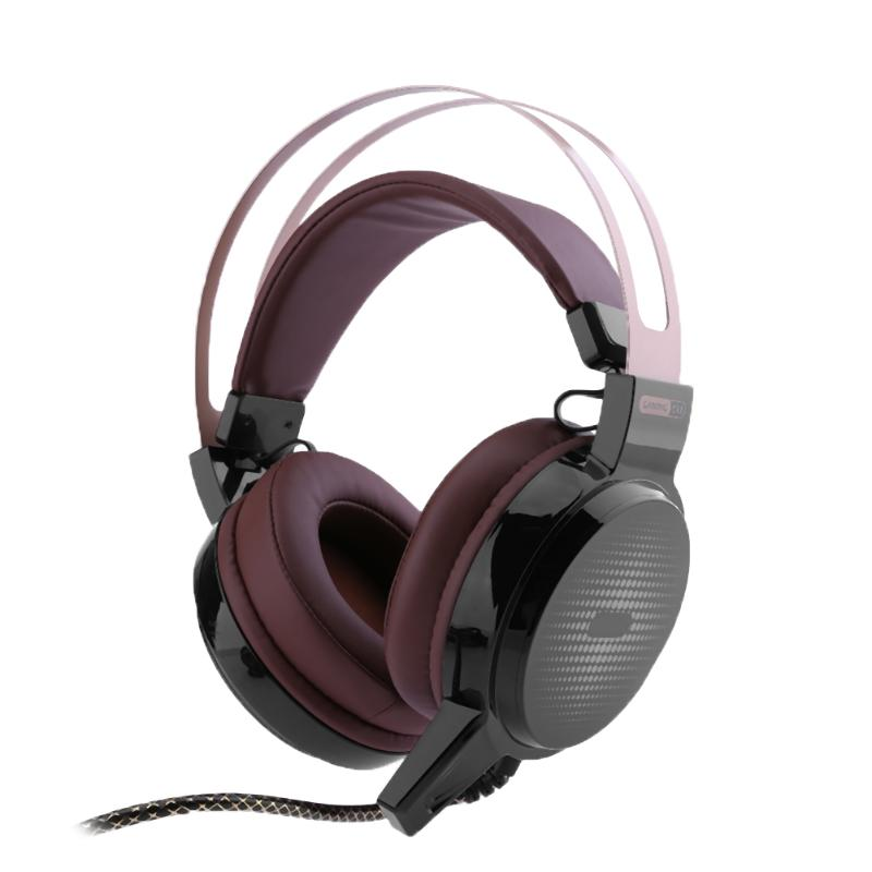 3.5mm Wired Computer Gaming Headphone RGB LED Headset Surround Stereo Earphones Earpiece with Microphone Coffee giantree wire game stereo sound earphones headset earset headphone wired earpiece bass noise reduction with mic for computer